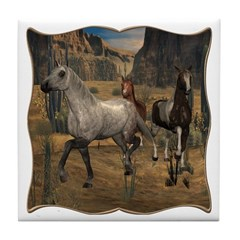 Southwest Horses Tile Coaster