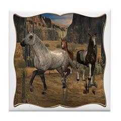 Southwest Horses Tile Coaster