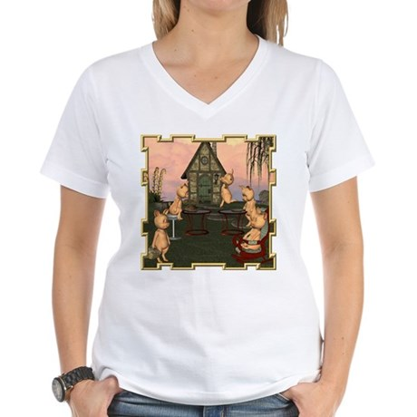 This Little Piggy Women's V-Neck T-Shirt