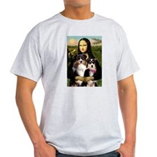 MonaLisa-Two Aussie Sheps. T-Shirt