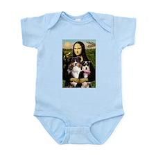 MonaLisa-Two Aussie Sheps. Infant Bodysuit