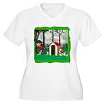 Where, Oh Where? Women's Plus Size V-Neck T-Shirt