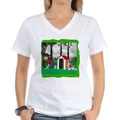 Where, Oh Where? Women's V-Neck T-Shirt