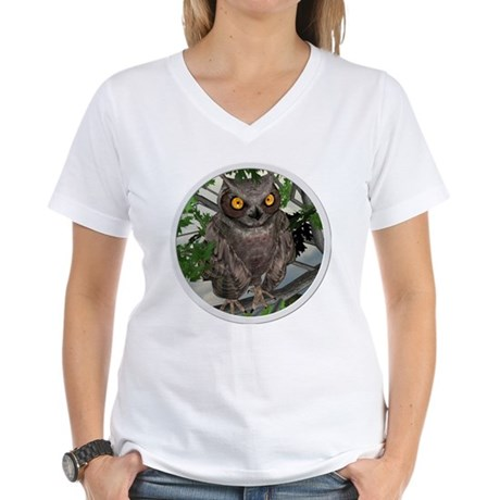 The Wise Old Owl Women's V-Neck T-Shirt