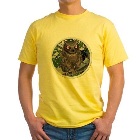 The Wise Old Owl Yellow T-Shirt