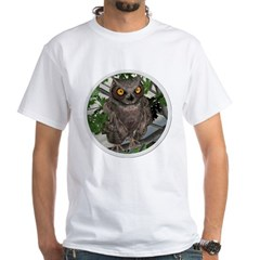 The Wise Old Owl White T-Shirt