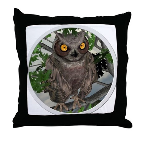 The Wise Old Owl Throw Pillow