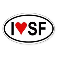 I Love San Francisco Oval Decal