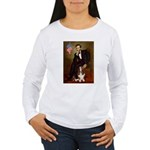 Lincoln / Basset Hound Women's Long Sleeve T-Shirt