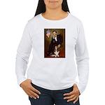 Lincoln / Basset Hound Women's Long Sleeve T-Shirt