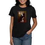 Lincoln / Basset Hound Women's Dark T-Shirt