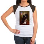 Lincoln / Basset Hound Women's Cap Sleeve T-Shirt