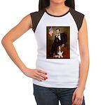 Lincoln / Basset Hound Women's Cap Sleeve T-Shirt