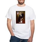 Lincoln / Basset Hound White T-Shirt