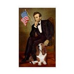 Lincoln / Basset Hound Sticker (Rectangle)
