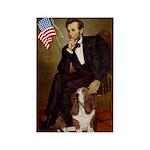 Lincoln / Basset Hound Rectangle Magnet