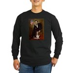 Lincoln / Basset Hound Long Sleeve Dark T-Shirt