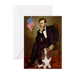Lincoln / Basset Hound Greeting Cards (Pk of 20)