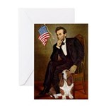 Lincoln / Basset Hound Greeting Card