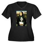Mona / Bearded Collie Women's Plus Size V-Neck Dar