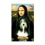 Mona / Bearded Collie Sticker (Rectangle)