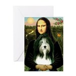 Mona / Bearded Collie Greeting Card
