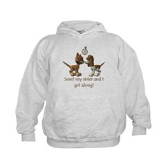 Like Cats and Dogs - Kids Hoodie