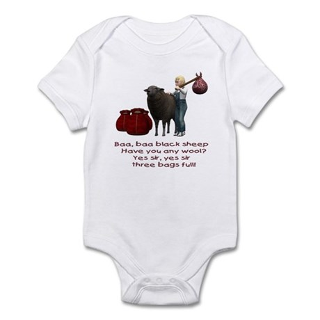 Baa Baa Black Sheep - Infant Bodysuit