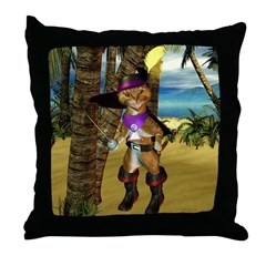 Throw Pillow - Puss 'N Boots