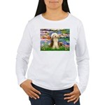 Lilies / Bearded Collie Women's Long Sleeve T-Shir