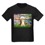 Lilies / Bearded Collie Kids Dark T-Shirt