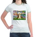 Lilies / Bearded Collie Jr. Ringer T-Shirt