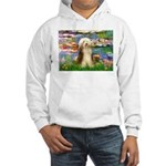 Lilies / Bearded Collie Hooded Sweatshirt