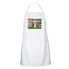 Lilies / Bearded Collie Apron