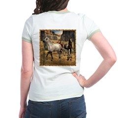 Southwest Horses 01 - Jr. Ringer T-Shirt