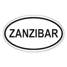 Zanzibar Oval Decal
