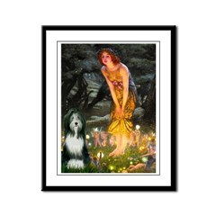 Fairies / Bearded Collie Framed Panel Print