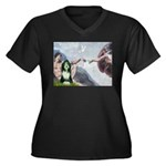 Creation / Bearded Collie Women's Plus Size V-Neck