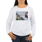 Creation / Bearded Collie Women's Long Sleeve T-Sh