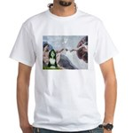 Creation / Bearded Collie White T-Shirt