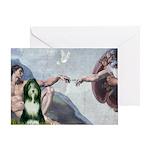 Creation / Bearded Collie Greeting Card