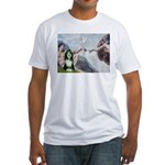 Creation / Bearded Collie Fitted T-Shirt