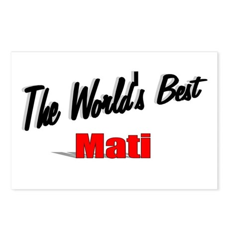&quot;The World's Best Mati&quot; Postcards (Package of 8)