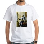 Pitcher / Bearded Collie White T-Shirt