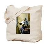 Pitcher / Bearded Collie Tote Bag