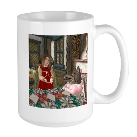 Little Red Riding Hood (At Grandma's) Large Mug