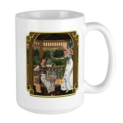 Cinderella and Her Godmother Large Mug
