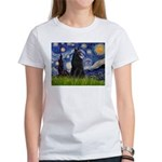 Starry Night /Belgian Sheepdog Women's T-Shirt