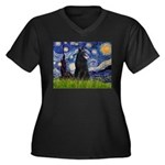 Starry Night /Belgian Sheepdog Women's Plus Size V