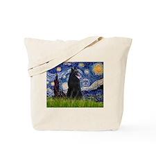 Starry Night /Belgian Sheepdog Tote Bag